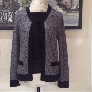 BANANA REPUBLIC Angora Black & Grey Sweater